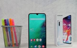 تقرير عن موبايل سامسونج Galaxy  A70